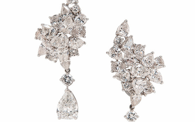 Platinum and Diamond Earrings