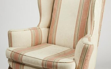Queen Anne Upholstered Arm Chair