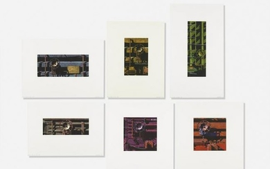 Robert Cottingham, Six works from Rolling Stock