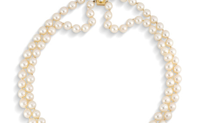 SAPPHIRE, DIAMOND AND CULTURED PEARL NECKLACE