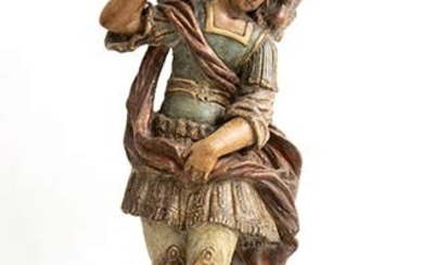 SICILIAN SCHOOL, 18th CENTURY Saint Michael the Archangel Sculpture in...