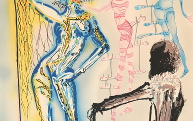 """Salvador Dali """"Ballet of Flowers"""" Lithograph, Signed Edition"""