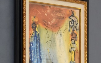 """Salvador Dali """"Nightmare of Moses"""" Lithograph, Signed Edition"""