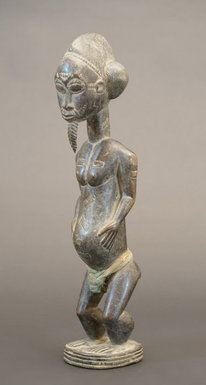 Sculpture - Wood - Baule - Ivory Coast