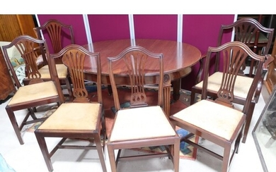 Set of six (4+2) Geo. lll style mahogany dining chairs with ...