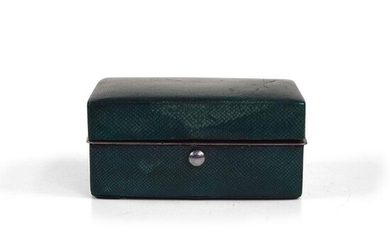 Shagreen & Silver Travelling Writing Set