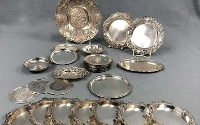 Silver. Plates, coasters and bowls.