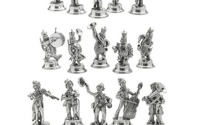 Spanish Sterling Silver Musician Figures