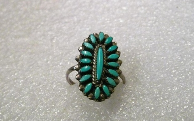 Sterling Silver Turquoise Petite Point