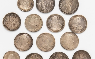 Thirteen Continental Thalers and Crown-size Coins