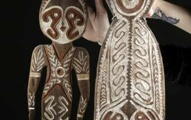 Two 20th C. Papua New Guinea Wood Carvings