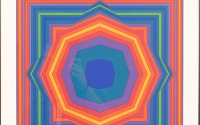 """VICTOR VASARELY (FRENCH/HUNGARIAN, 1906-1997) SCREENPRINT IN COLORS, ON WOVE PAPER, 1988 H 16.125"""" W 16.125"""" ATTA"""