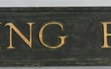 Wooden RR Waiting Room Sign