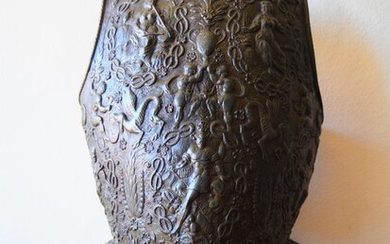 Worked and Embossed Bronze Armor. - Copper - Mid 19th century