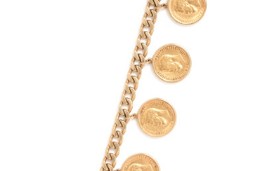 YELLOW GOLD COIN BRACELET