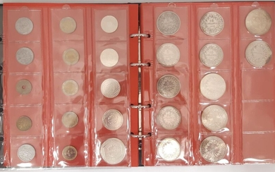 an album of French coins including 1 coin...