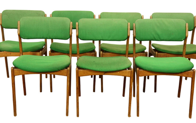(lot of 7) Danish Modern teak dining chairs