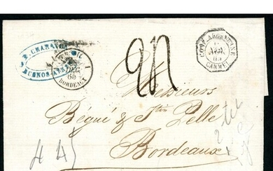 19th CENTURY LOCAL & OVERSEAS MAIL; Range with c1818/30 E to...