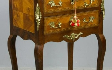 19thC French Louis XVI-Style 2-Drawer Stand