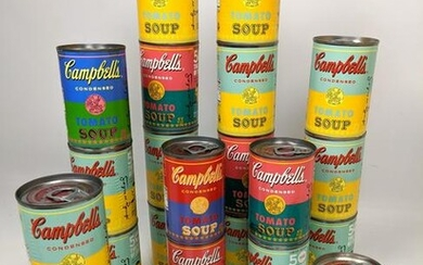 22pcs ANDY WARHOL Campbell's Tomato Soup Cans. Recent L