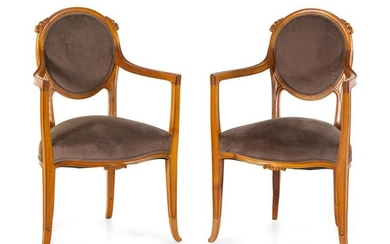 Paul Follot (French, 1877-1941) Pair of Armchairs