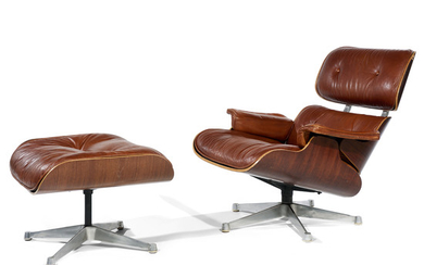 """CHARLES (1907-1978) & RAY (1913-1988) EAMES Fauteuil """"Lounge..."""