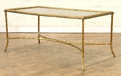 BAGUES BRONZE COFFEE TABLE SMOKE MIRRORED TOP