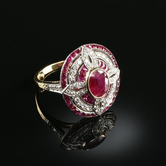 A BELLE ÉPOQUE 18K YELLOW AND WHITE GOLD, DIAMOND, AND
