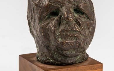 A BRONZE SCULPTURE OF A HEAD BY JAMES KEARNS. American