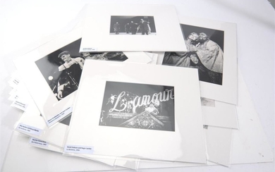 A COLLECTION OF TWENTY PRESS PHOTOGRAPHS OF 'THE AUSTRALIAN OPERA', INCLUDING JOAN SUTHERLAND, DAVID HOBSON, LUCIANO PAVAROTTI, PLAC.