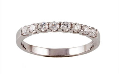 A DIAMOND HALF ETERNITY RING, with diamonds of 0.50ct in tot...