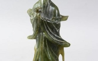 A GOOD 20TH CENTURY JADE / JADE LIKE CARVING OF