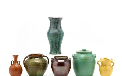 A Group of Six NC Pottery Articles