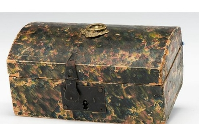 A Marbled Paper-Covered Pine Box