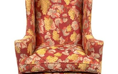 A Queen Anne Style Upholstered Easy Chair Height 43 x
