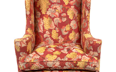 A Queen Anne Style Upholstered Easy Chair