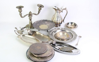A Silver Plated Christofle Dish Together with Other Plated Wares