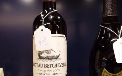 A bottle of Chateau Beychevelle Saint Julien Quatrieme Cru