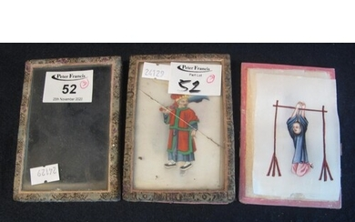 A collection of Chinese miniature portrait paintings on pith...