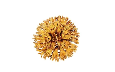 A gold flower brooch, by Tiffany & Co., 1972