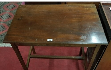A late 19th Century Mahogany Table with stretcher base. Appr...
