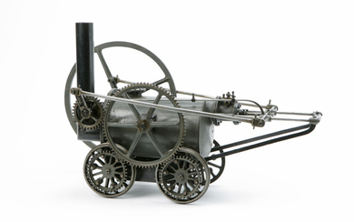 AN IMPORTANT MODEL OF RICHARD TREVITHICK'S ILL-FATED GATESHEAD LOCOMOTIVE OF 1805, SUCCESSOR TO THE PEN-Y-DARREN LOCOMOTIVE OF 1804