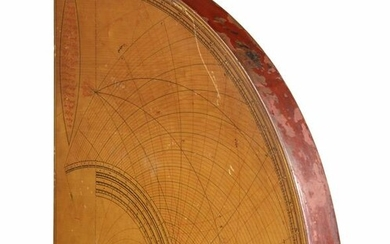 AN OTTOMAN WOODEN ASTROLABE QUADRANT, SIGNED OSMAN