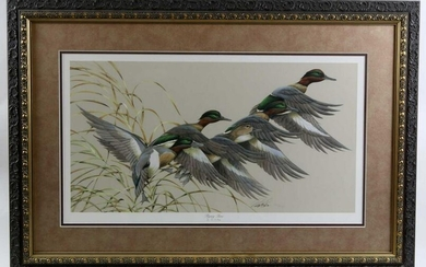 "ART LAMAY ""FLYING TIME"" WOOD DUCK PRINT 719/4800"