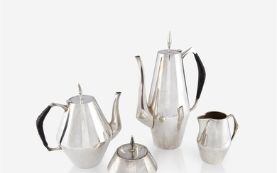 An American sterling silver tea and coffee service Gio...