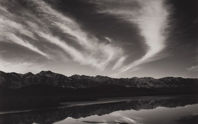 Ansel Adams, Evening Clouds and Pool, East Side of the Sierra from the Owens Valley, California
