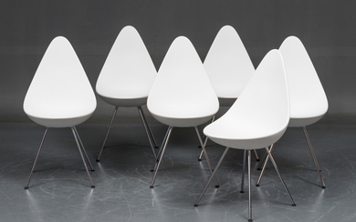 Arne Jacobsen. A set of six chairs, model 3110, 'The Drop ' (6)
