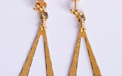 Black Hills Gold Co. Yellow & Rose Gold Earrings