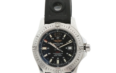 Breitling: A gentleman's wristwatch of steel. Model Colt, ref. A1738811. Mechanical movement with automatic winding. 2014.