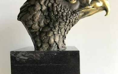 Bronze Eagle on marble statue by Milo
